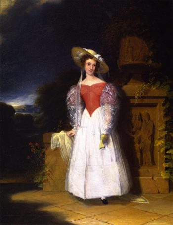Lady in Red Bodice | Robert Walter Weir | oil painting
