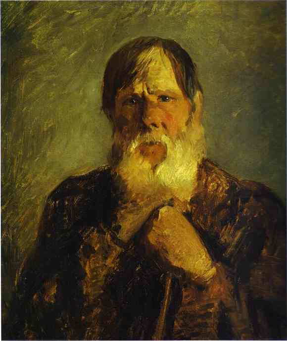 an old peasant 1880s   Nikolay Gay   oil painting