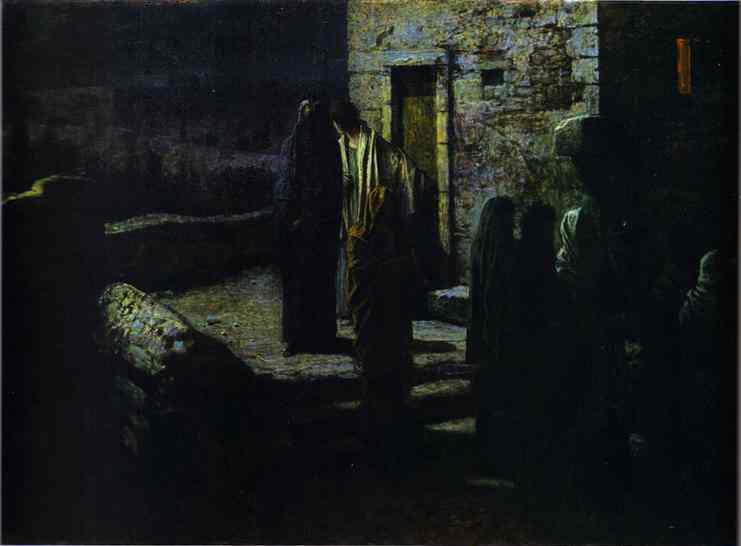 christ and the disciples going out into the garden of gethsemane after the last supper 1889 | Nikolay Gay | oil painting