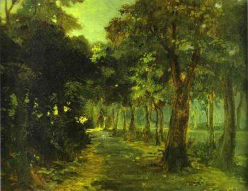 florence the cascina park 1868 | Nikolay Gay | oil painting