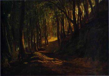 oak grove at san terenzo 1867 | Nikolay Gay | oil painting