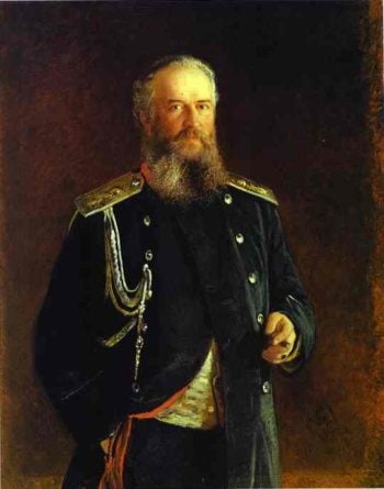 portrait of adam olsufyev 1881 | Nikolay Gay | oil painting