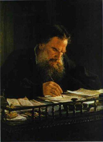 portrait of leo tolstoy 1884 | Nikolay Gay | oil painting