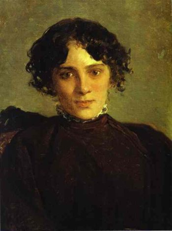 portrait of maria gabayeva 1886 | Nikolay Gay | oil painting