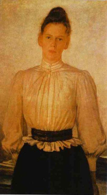 portrait of maria tolstaya leo tolstoys daughter 1891 | Nikolay Gay | oil painting