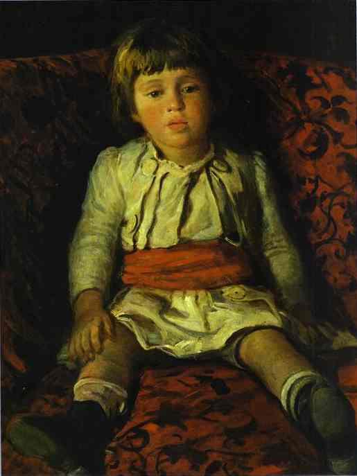 portrait of nikolay gay the artists grandson 1889   Nikolay Gay   oil painting