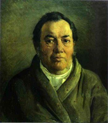portrait of nikolay o gay artists father 1854 | Nikolay Gay | oil painting