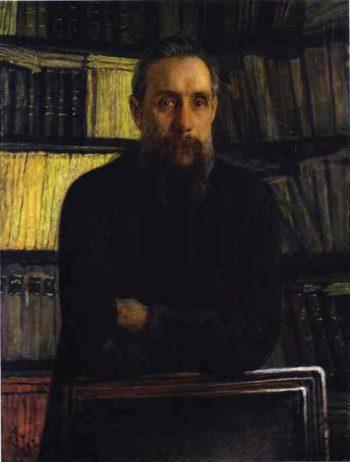 portrait of pavel kostychev 1892 | Nikolay Gay | oil painting