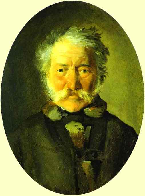 portrait of piotr zabela 1856   Nikolay Gay   oil painting
