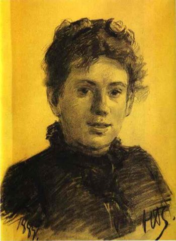 portrait of tatyana tolstaya leo tolstoys daughter 1887 | Nikolay Gay | oil painting