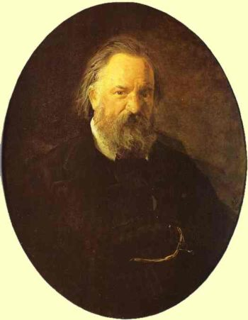 portrait of the author alexander herzen 1867 | Nikolay Gay | oil painting