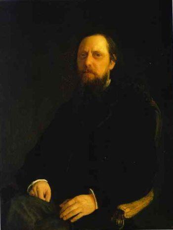 portrait of the author mikhail saltykov shchedrin 1872 | Nikolay Gay | oil painting