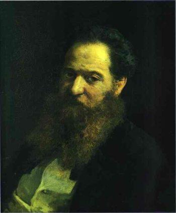 portrait of the physiologist moriz schiff 1867 | Nikolay Gay | oil painting