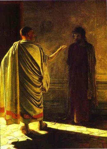 quod est veritas christ and pilate 1890 | Nikolay Gay | oil painting