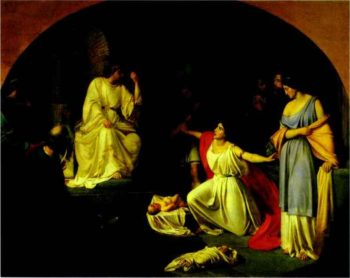 the judgment of king solomon 1854 | Nikolay Gay | oil painting