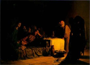the last supper 1863 | Nikolay Gay | oil painting
