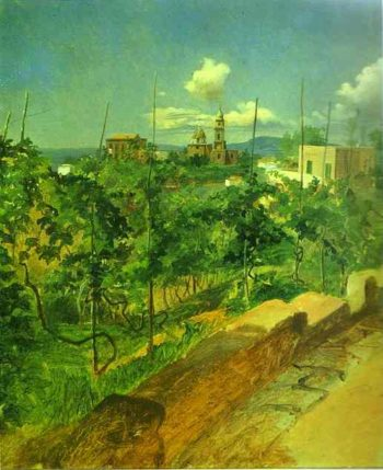 vineyard at vico 1858 | Nikolay Gay | oil painting