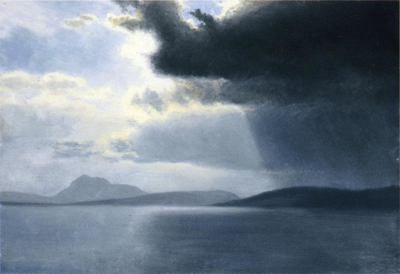 Approaching Thunderstorm on the Hudson River | Albert Bierstadt | oil painting