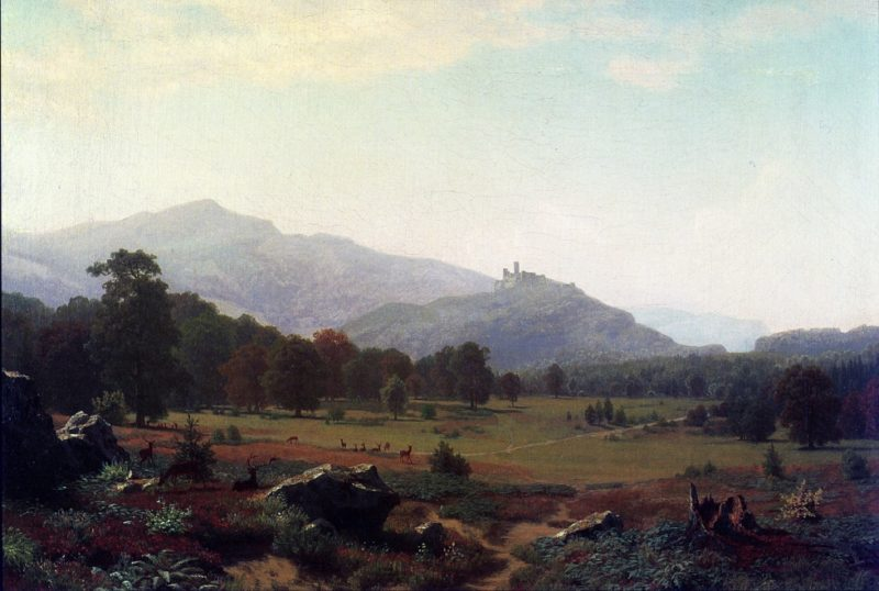 Autumn in the Conway Meadows Looking towards Mount Washington New Hampshire | Albert Bierstadt | oil painting