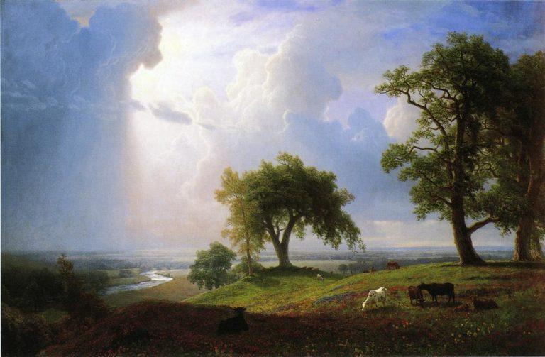 California Spring   Albert Bierstadt   oil painting