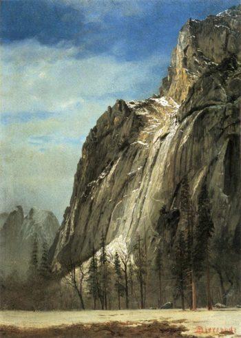 Cathedral Rocks A Yosemite View | Albert Bierstadt | oil painting