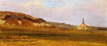 Chimney Rock | Albert Bierstadt | oil painting