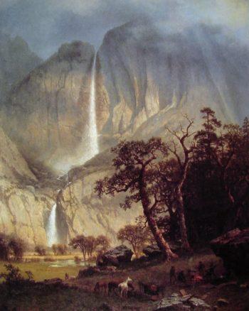 Cholooke The Yosemite Fall | Albert Bierstadt | oil painting