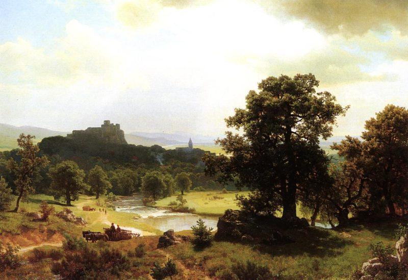 Day's Beginning | Albert Bierstadt | oil painting