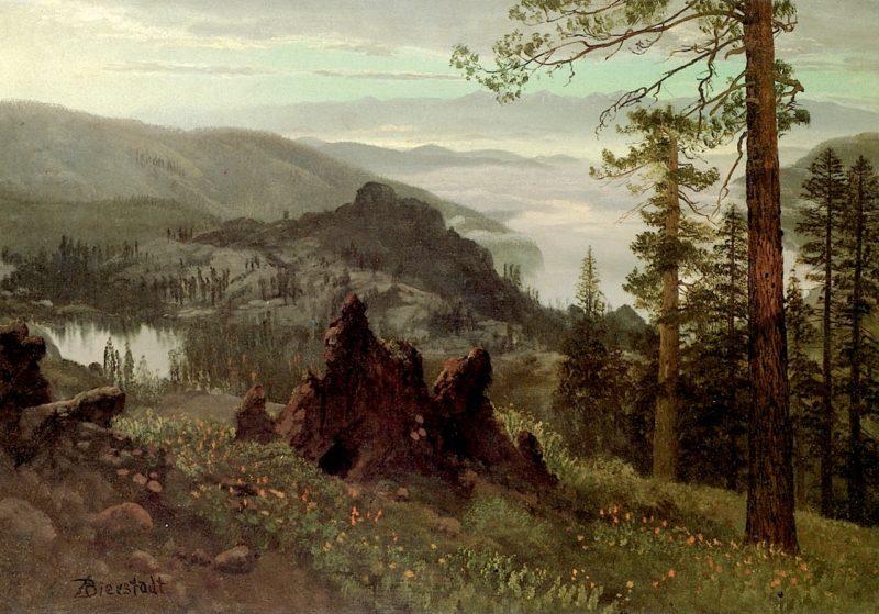 Division Lake California | Albert Bierstadt | oil painting