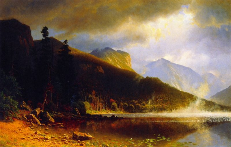 Echo Lake Franconia Mountains New Hampshire | Albert Bierstadt | oil painting