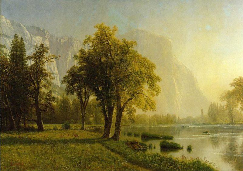 El Capitan Yosemite Valley | Albert Bierstadt | oil painting