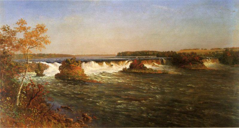 Falls of St Anthony   Albert Bierstadt   oil painting