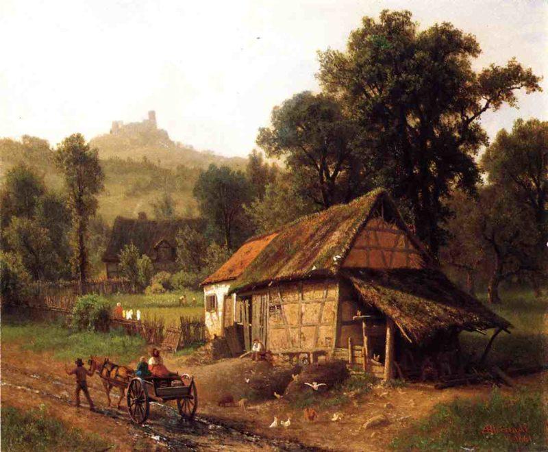 In the Foothills | Albert Bierstadt | oil painting