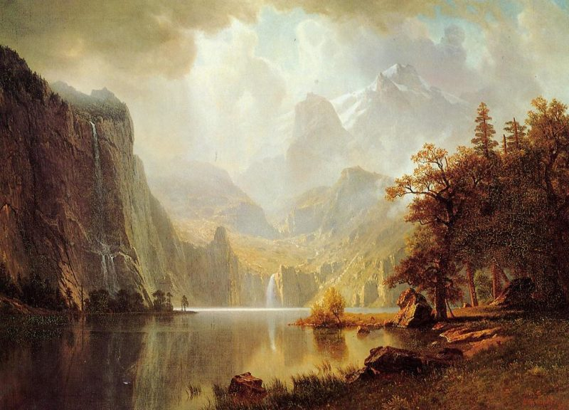 In the Mountains | Albert Bierstadt | oil painting