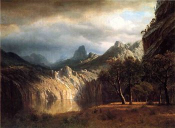 In Western Mountains | Albert Bierstadt | oil painting