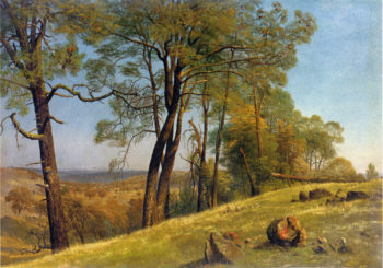Landscape Rockland County California | Albert Bierstadt | oil painting