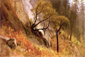 Landscape Study Yosemite California | Albert Bierstadt | oil painting