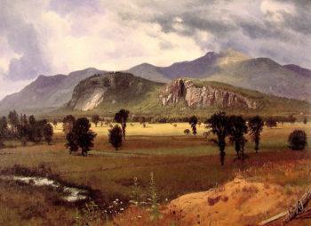 Moat Mountain Intervale New Hampshire | Albert Bierstadt | oil painting