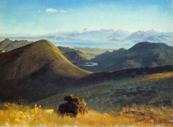 Mono Lake Sierra Nevada California 1872 | Albert Bierstadt | oil painting