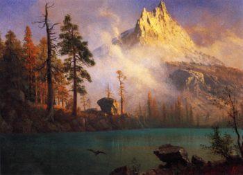 Mountain Lake | Albert Bierstadt | oil painting