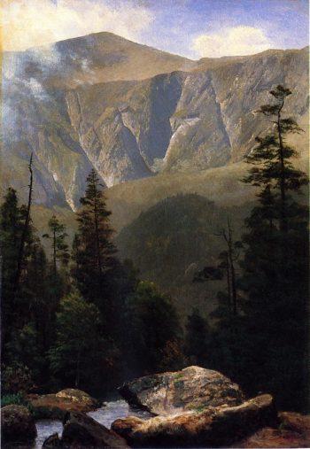 Mountainous Landscape | Albert Bierstadt | oil painting