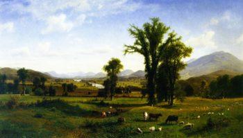 Mount Ascutney from Claremont New Hampshire | Albert Bierstadt | oil painting