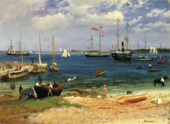 Nassau Harbor | Albert Bierstadt | oil painting