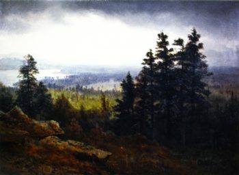 Near North Conway New Hampshire   Albert Bierstadt   oil painting