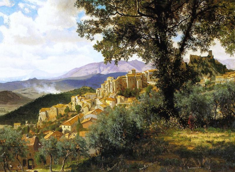 Olevano   Albert Bierstadt   oil painting