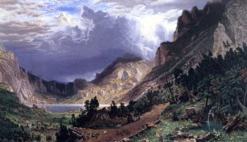 Storm in the Rocky Mountains Mt Rosalie | Albert Bierstadt | oil painting
