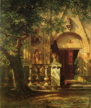Sunlight and Shadow | Albert Bierstadt | oil painting