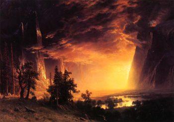 Sunset in the Yosemite Valley | Albert Bierstadt | oil painting