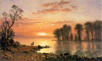 Sunset | Albert Bierstadt | oil painting