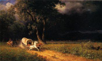 The Ambush | Albert Bierstadt | oil painting